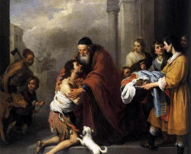 Return of the Prodigal Son by Bartolome Esteban Murillo 1667-1670